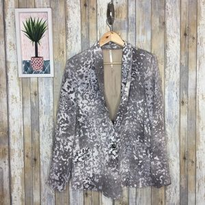 Truth & Pride Abstract Gray White Taupe Blazer